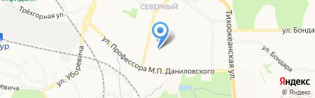 Визит на карте Хабаровска
