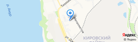 Максим на карте Хабаровска
