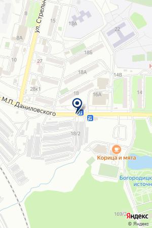 АЗС № 12 ТОРГОВАЯ КОМПАНИЯ ХАБАРОВСКНЕФТЕПРОДУКТ на карте Хабаровска