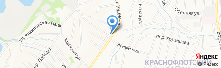 Северный округ на карте Хабаровска