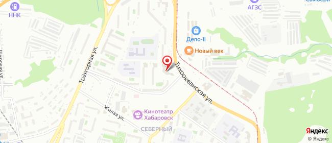 Карта расположения пункта доставки Westfalika в городе Хабаровск