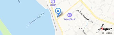 Автостоянка на Брестской на карте Хабаровска