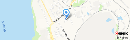Телекор ДВ на карте Хабаровска