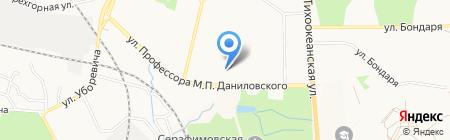 Ювос на карте Хабаровска
