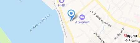 Силедия на карте Хабаровска