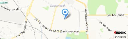 Экономическая гимназия на карте Хабаровска