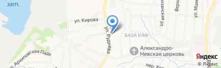 Руднева на карте Хабаровска