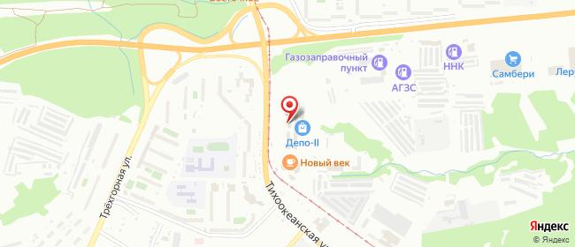 Карта расположения пункта доставки Хабаровск Тихоокеанская в городе Хабаровск