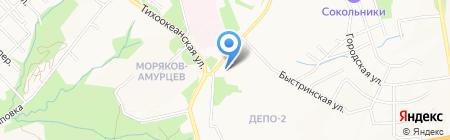 Светлый на карте Хабаровска