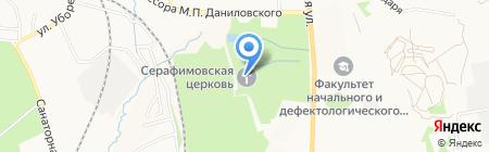 Храм преподобного Серафима Саровского на карте Хабаровска