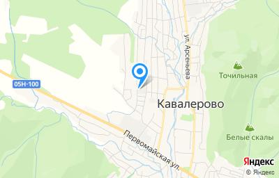 Местоположение на карте пункта техосмотра по адресу Приморский край, пгт Кавалерово, ул Братьев Форостян, д 13