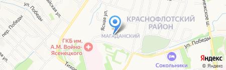 ХРМК на карте Хабаровска