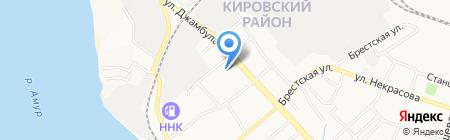 Паритет-СК на карте Хабаровска
