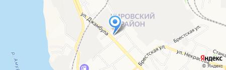 Хабаровская Евангельско-Христианская Пресвитерианская Церковь на карте Хабаровска