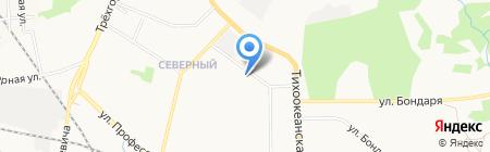 Юбилейный на карте Хабаровска