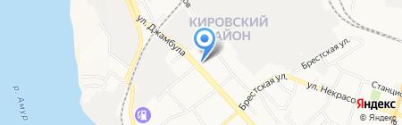 Городская поликлиника №5 на карте Хабаровска