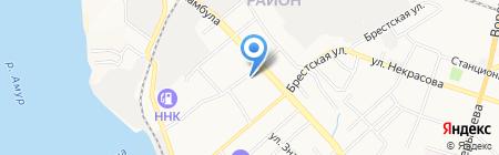 СКА-Нефтяник Хабаровск на карте Хабаровска