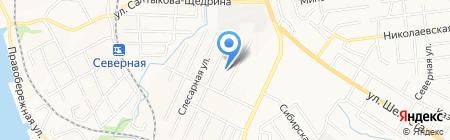 Большаков С.В. на карте Хабаровска