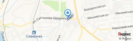 Альберт на карте Хабаровска