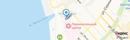 Танатологический отдел г. Хабаровска на карте Хабаровска