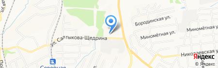 Облака на карте Хабаровска
