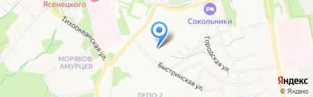 Сплав на карте Хабаровска