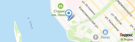 Краевой спортивный комплекс на карте Хабаровска