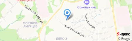 Яшма на карте Хабаровска