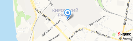 Чэатын на карте Хабаровска
