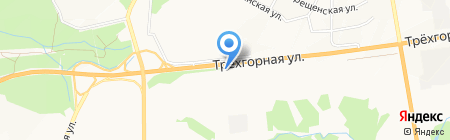 Автостоянка на Трехгорной на карте Хабаровска