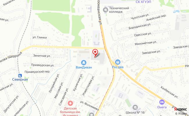 Карта расположения пункта доставки Хабаровск Салтыкова-Щедрина в городе Хабаровск