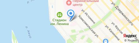 Консультативно-диагностическая поликлиника на карте Хабаровска