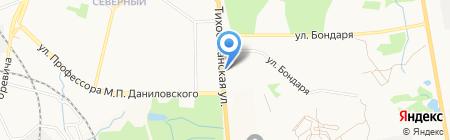 Сеть продуктовых магазинов на карте Хабаровска