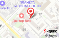 Схема проезда до компании RIM в Хабаровске