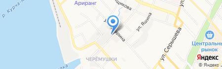 Шиномонтажная мастерская на Советской на карте Хабаровска