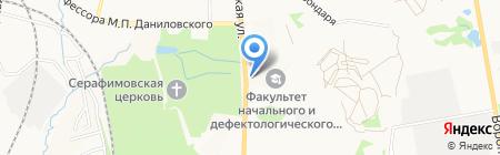 Автостоянка на Тихоокеанской на карте Хабаровска