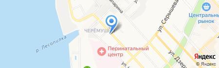Йогурт на карте Хабаровска