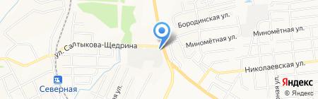 Росток на карте Хабаровска
