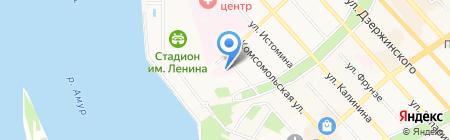 Родильный дом №4 на карте Хабаровска