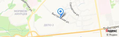 Николь на карте Хабаровска