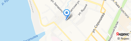 Тепловые сети г. Хабаровска на карте Хабаровска