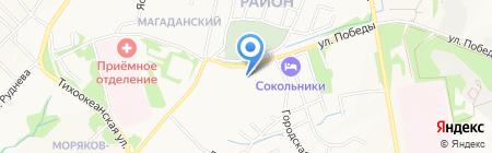 Анго на карте Хабаровска