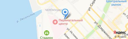 Главное бюро медико-социальной экспертизы по Хабаровскому краю на карте Хабаровска