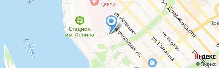 Премьер на карте Хабаровска