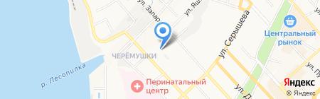 Мирра-Люкс на карте Хабаровска