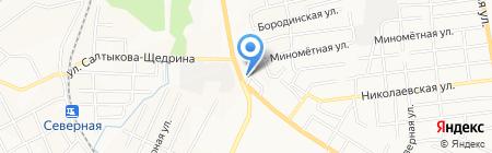 Поворот на карте Хабаровска