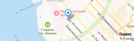 Окружной клинический военный госпиталь на карте Хабаровска