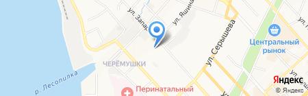 Санвэй на карте Хабаровска