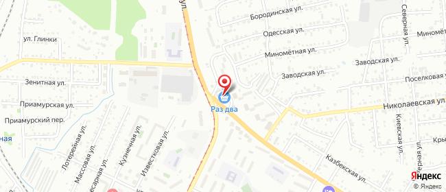Карта расположения пункта доставки Хабаровск Шелеста в городе Хабаровск