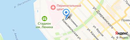 Окружной универмаг на карте Хабаровска